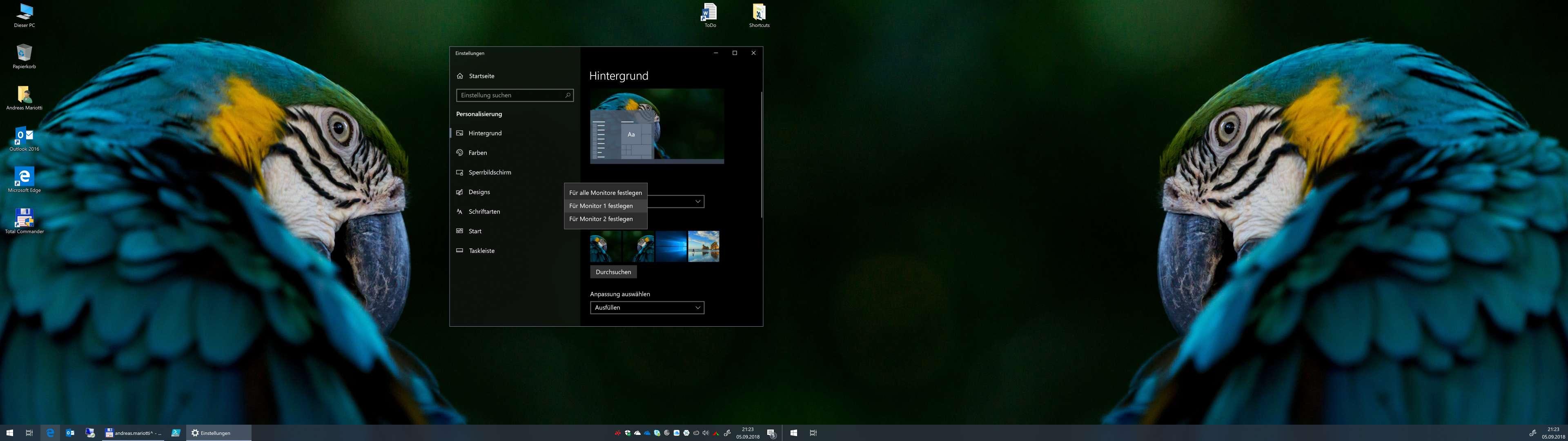 Windows 10 mehrere desktops verschiedene hintergrunde