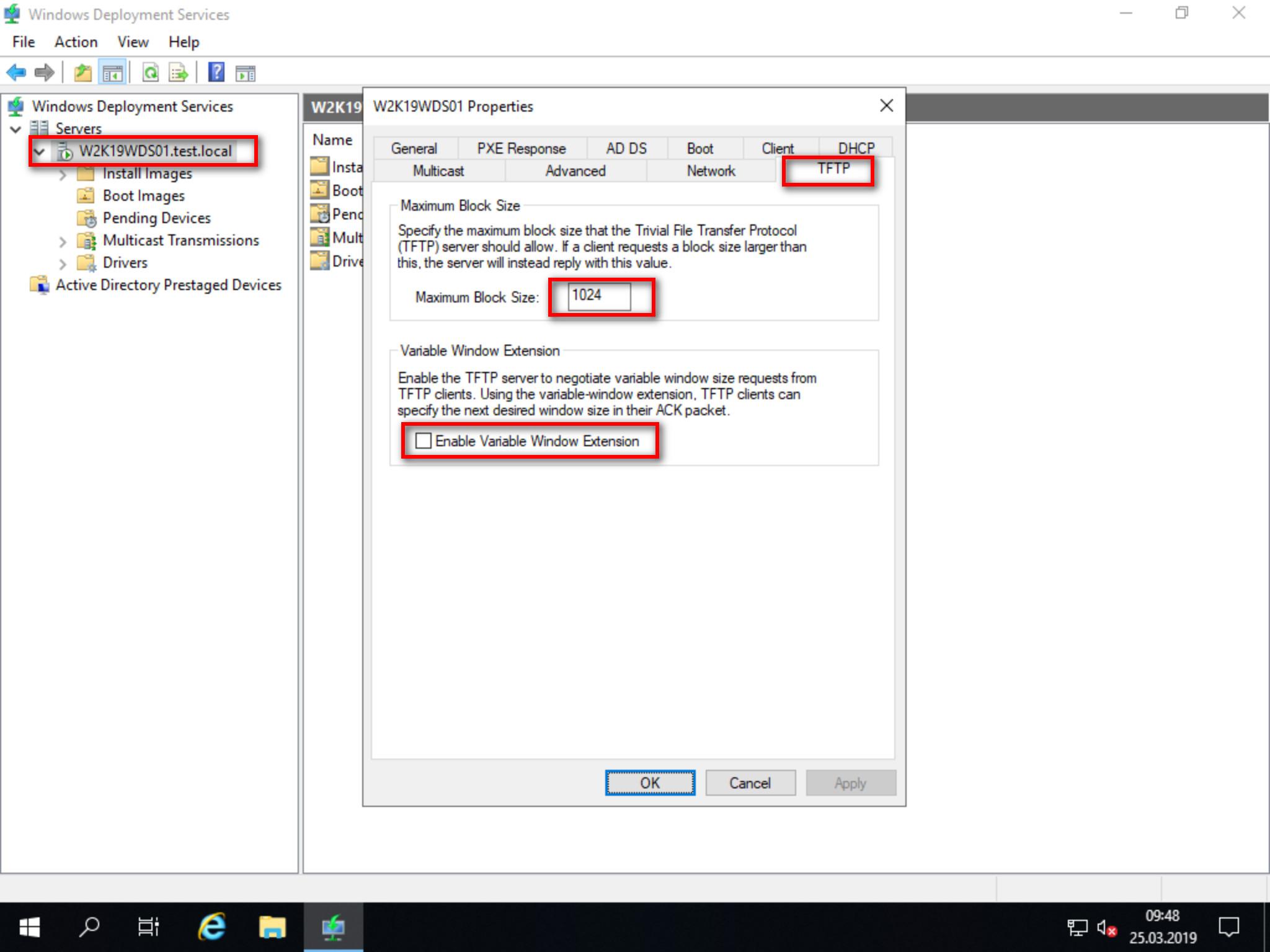 WDS 0xc0000001 Boot-Error